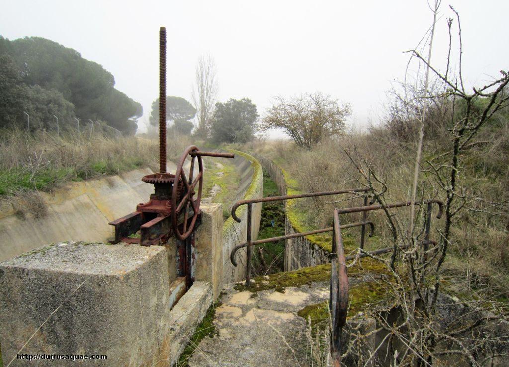 Durius Aquae; Canal de Tordesillas, compuerta de distribución