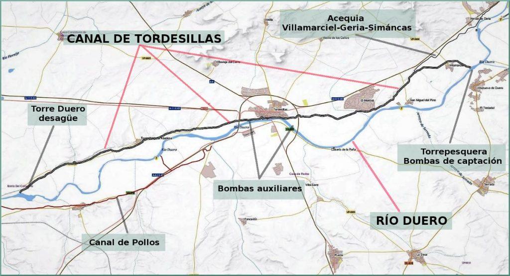 Durius Aquae - Recorrido del Canal de Tordesillas