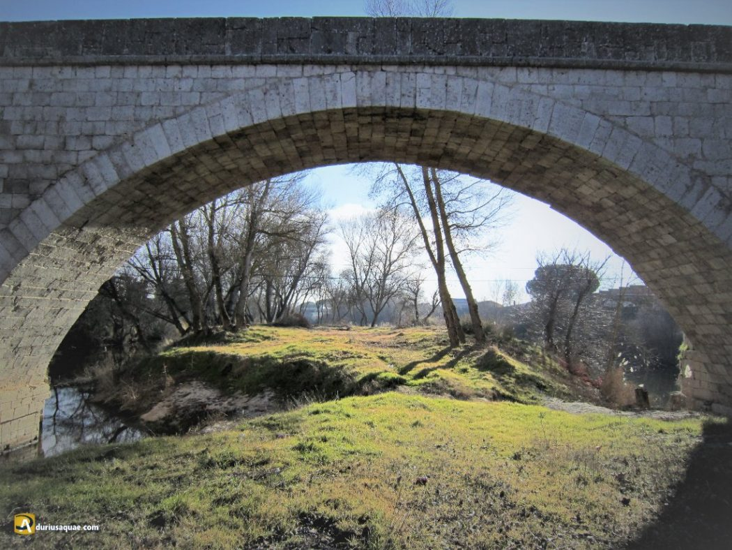 Puenteduero, el arco nuevo desde su isla
