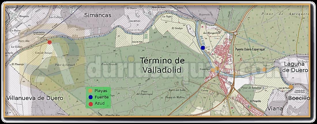 El Duero cruzando el TM de Valladolid