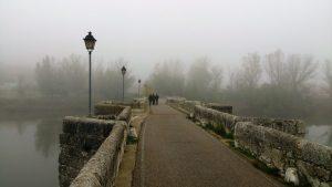 Puente medieval sobre el Pisuerga en Simáncas