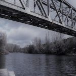 Soria, puente del ferrocarril sobre el Duero
