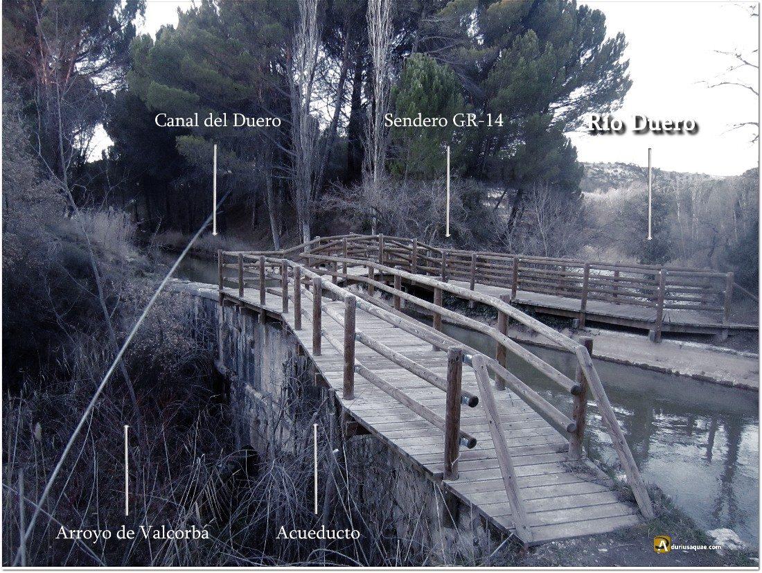 Desembocadura del Valcorba en el Duero