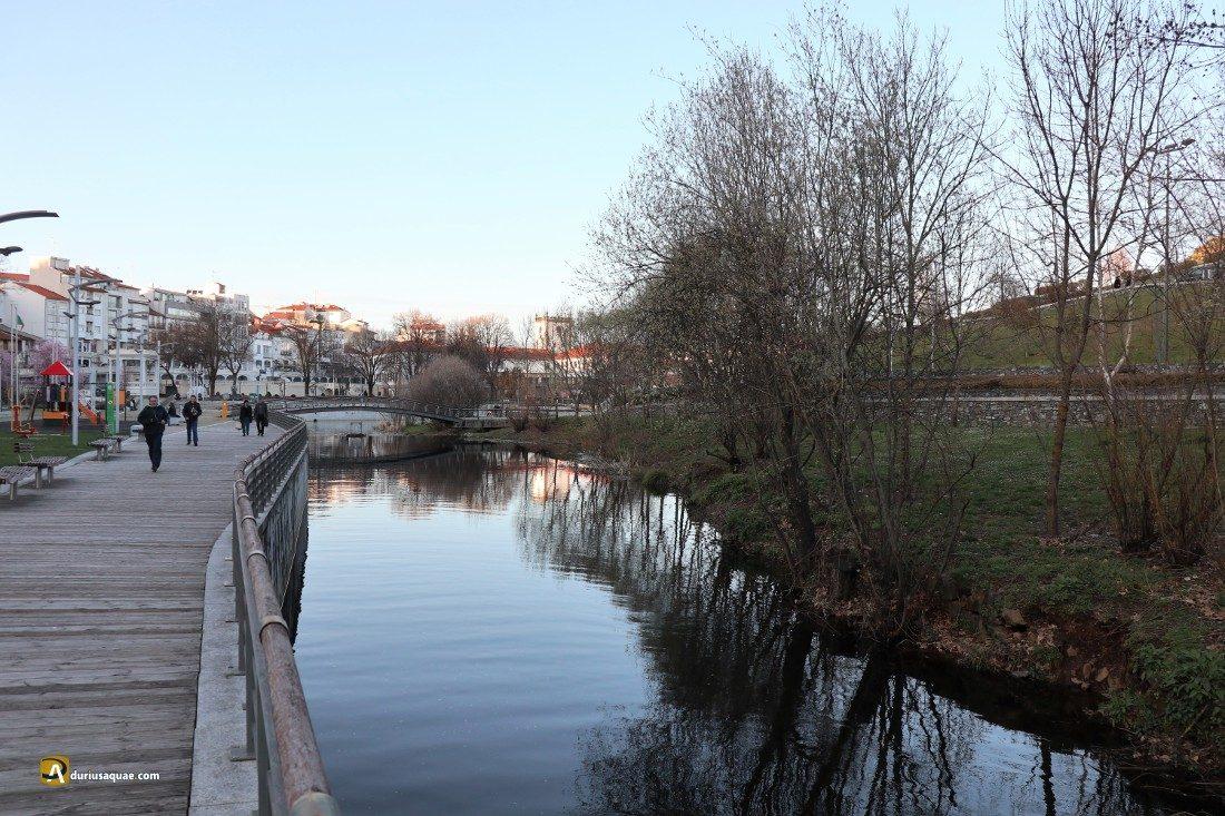 Durius aquae: Río Fervença, relajado a su paso por Bragança