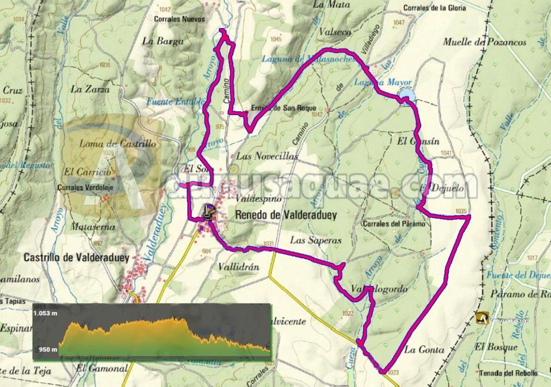 Durius Aquae: Mapa ruta de Renedo de Valderaduey.