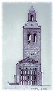 Alzado de Santa María la Mayor (Dibujo de Luis Cervera 1992)