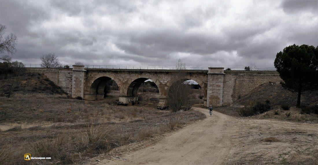 Durius Aquae: El puente del Ferrocarril a Zamora por el que un tren pasa aún cada día