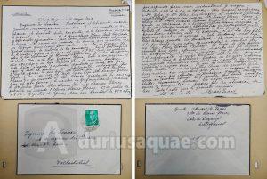 Durius Aquae: Carta con la historia del último molino del Trabancos
