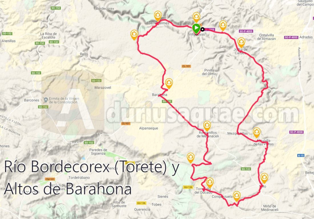 Durius Aquae: ruta Bordecorex - Altos de Barahona