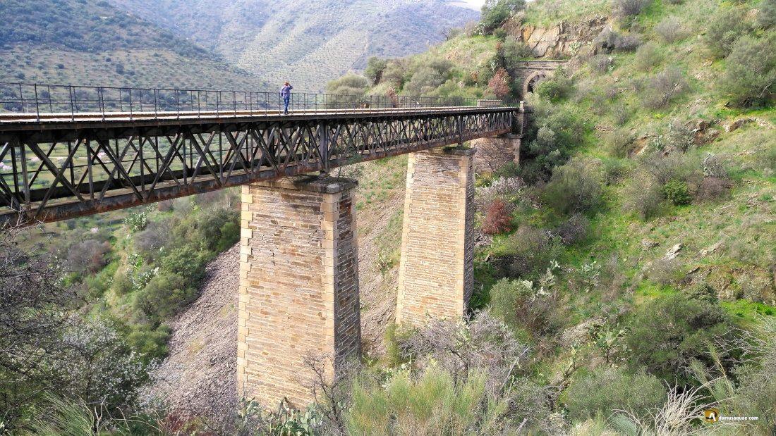 Viejo viaducto entre La Fregeneda y Barca d'Alba