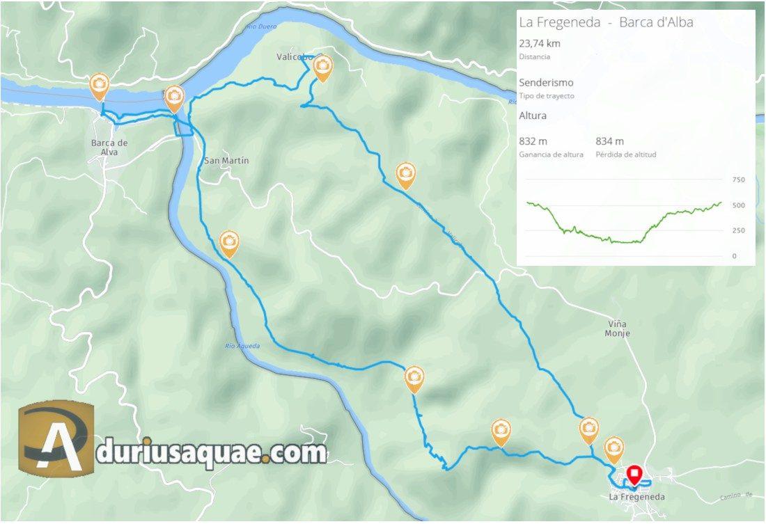 Mapa la Fregeneda-Barca d'Alba