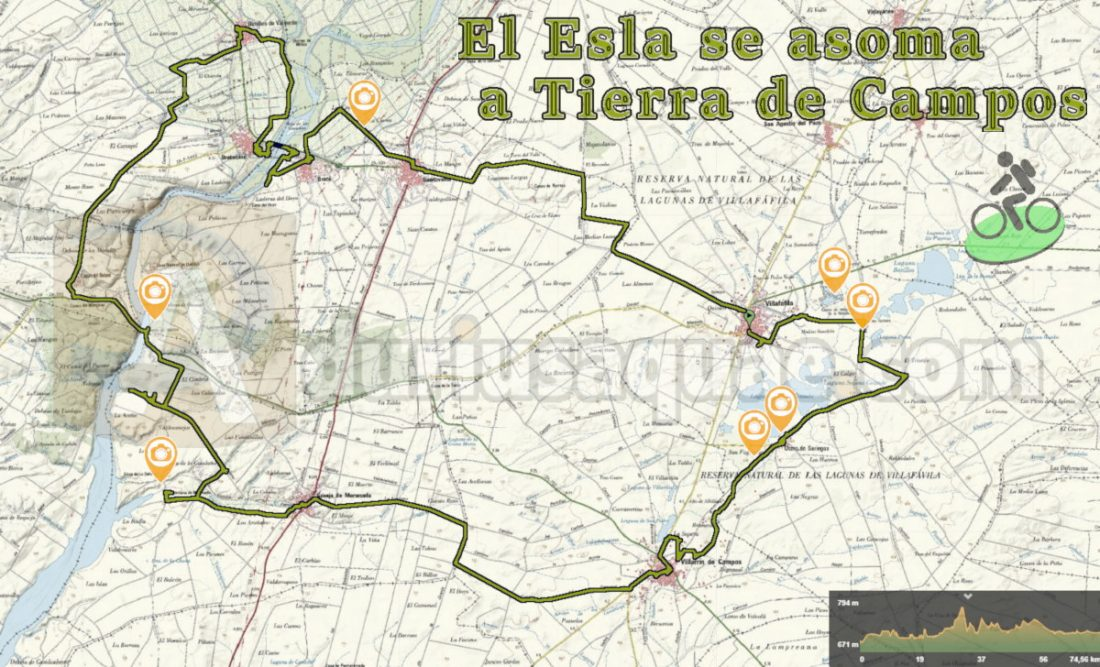 Mapa del Esla que se asoma a Tierra de Campos