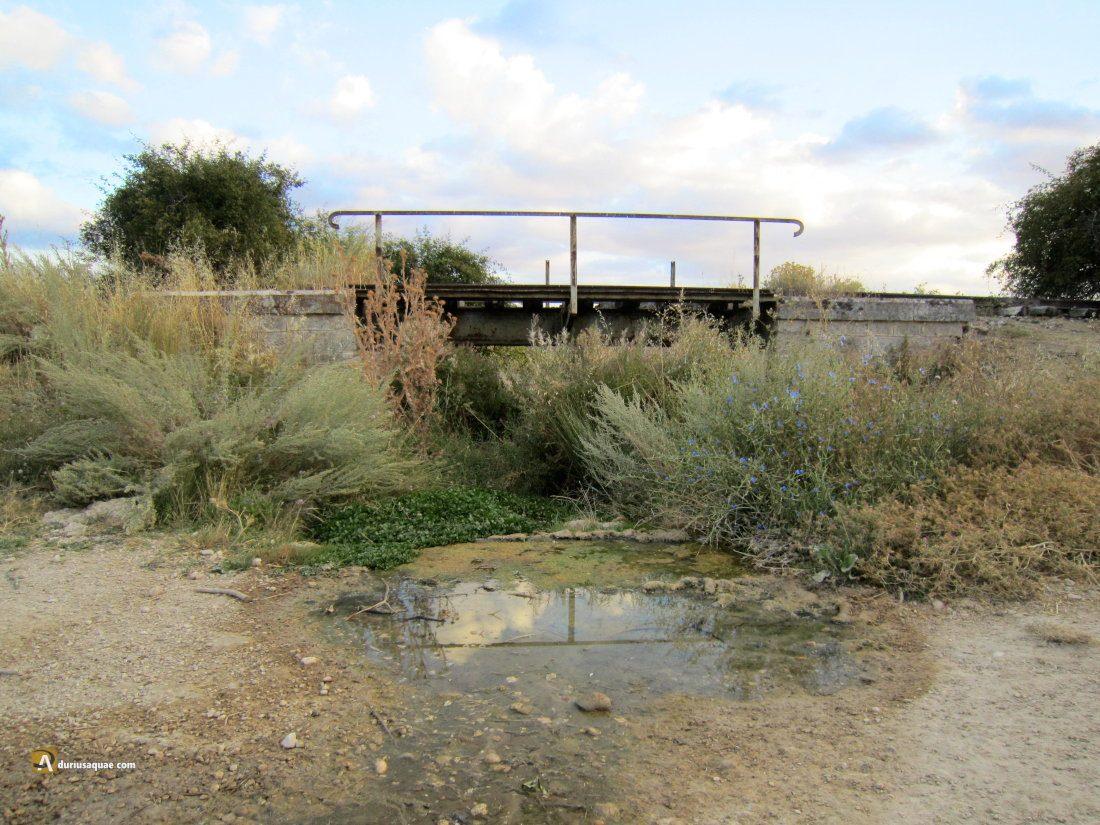 Quintanilla de Arriba: Puentecillo del ferrocarril sobre el arroyo del Pozo