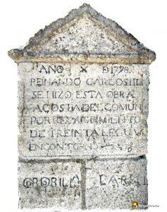 Durius Aquae: Monolito conmemorativo en el puente de Cordovilla la Real