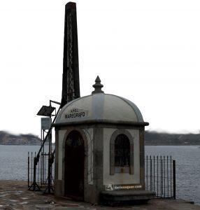 Mareógrafo en el estuario de Oporto