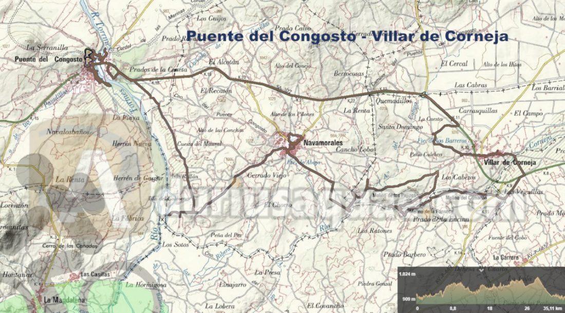 Durius Aquae: Ruta desde Puente del Congosto hasta Villar de Corneja