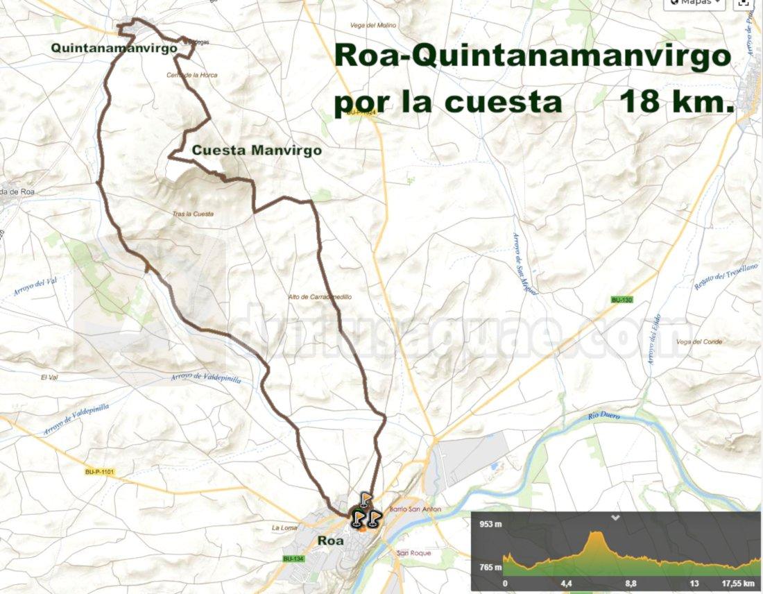 Mapa ruta Cuesta Manvirgo