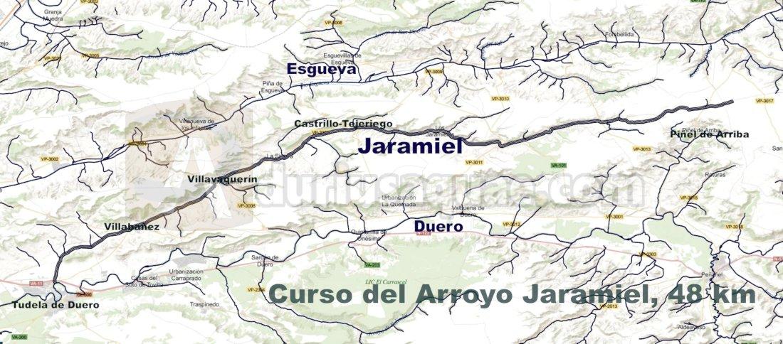 El arroyo Jaramiel discurre íntegramente por la provincia de Valladolid