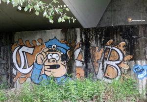Durius Aquae: grafiti bajo el puente en Laguna