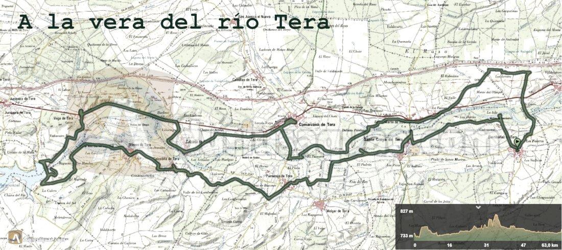 Mapa ruta Por la vera del Tera