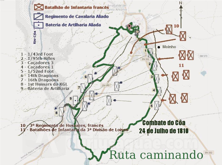 Batalla del Coa y ruta caminando
