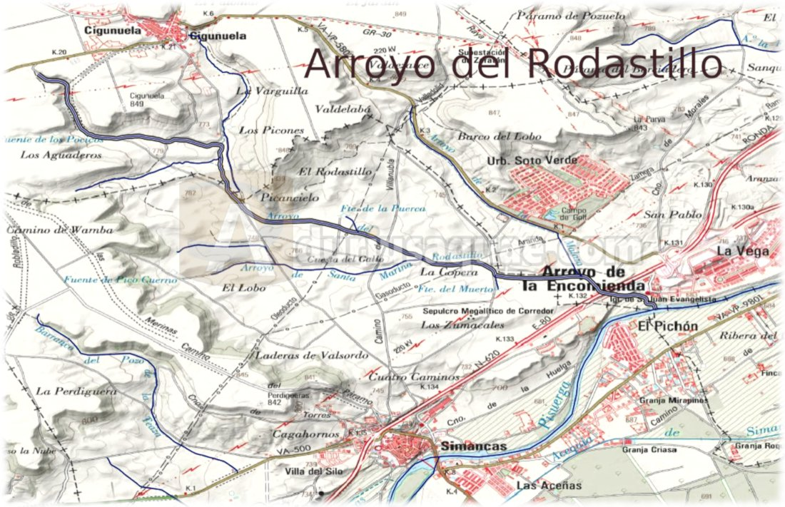 El arroyo del Rodastillo según CHD