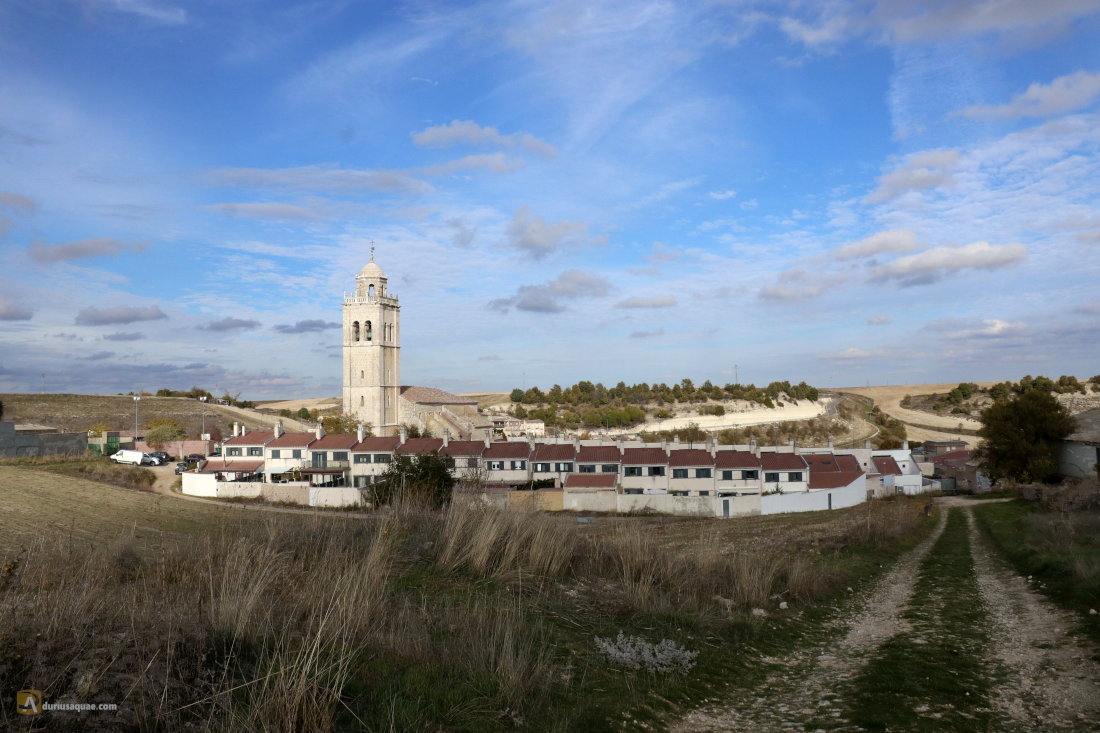Vista de Ciguñuela desde el páramo donde nace el arroyo