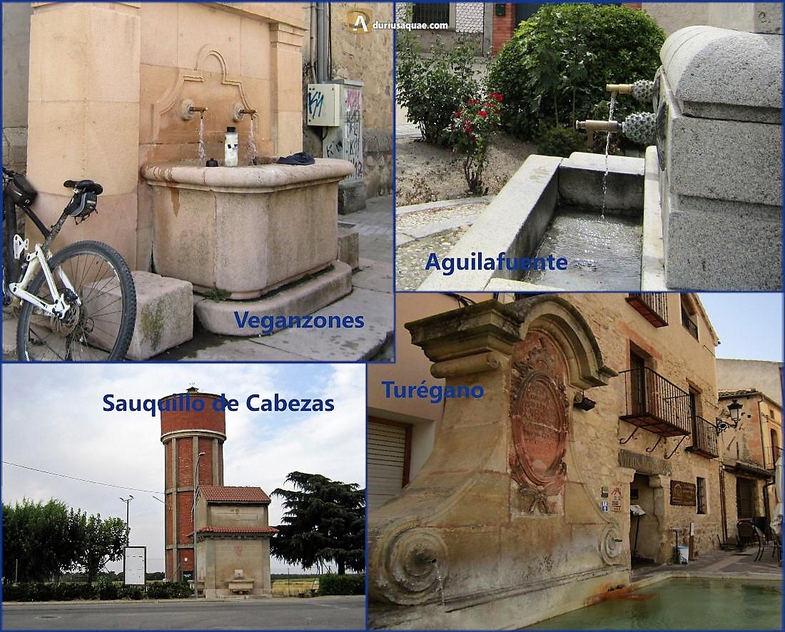 Fuentes en Turégano, Aguilafuente, Sauquillo de Cabezas y Veganzones